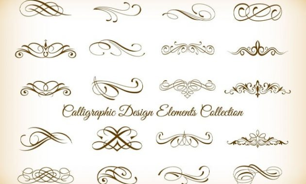 Floral kaligrafi