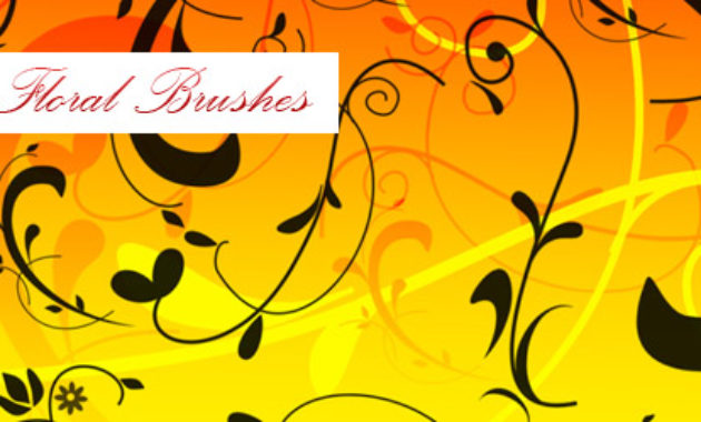 floral brushes preview