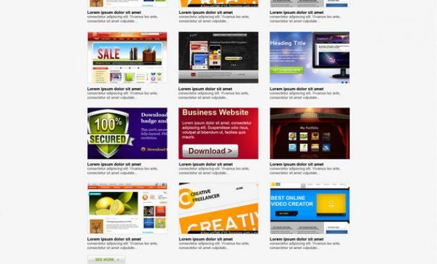 Tampilan portfolio atau archive website