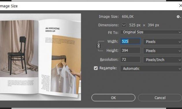 Image size photoshop