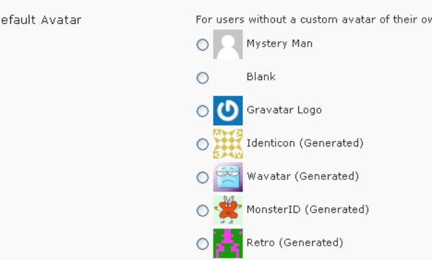mengganti default avatar wordpress