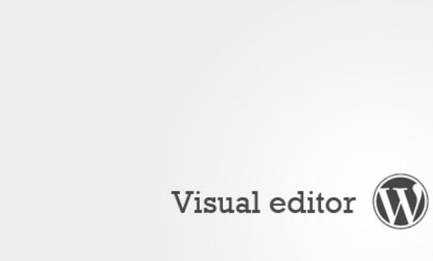 visual-editor-wordpress
