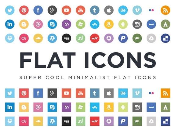 Minimalist flat icon design