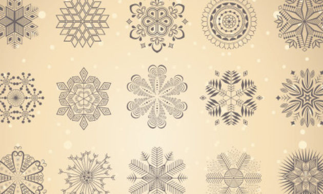 Download Shapes : Decorative Snowflakes