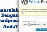 Permasalahan login pada wordpress