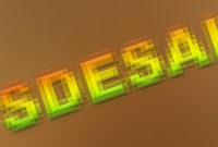 Cara-membuat-text-bergaya-mosaic-dengan-photoshop