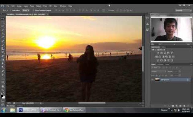 Efek lens flare dengan photoshop