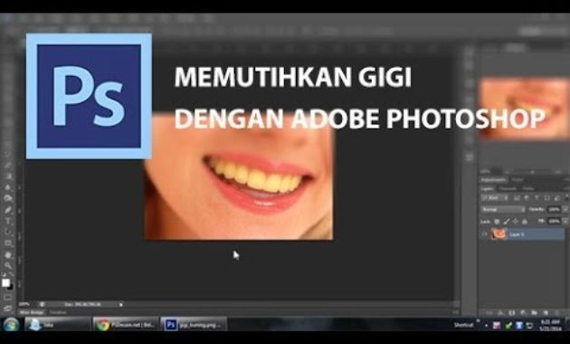 Memutihkan gigi dengan photoshop