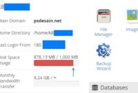Disc Space Usage yang besar pada hosting