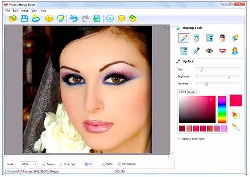 Cara menambah makeup di foto