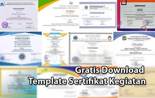 Gratis Download Template Sertifikat Kegiatan