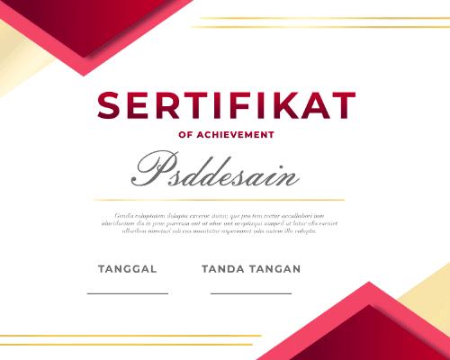 Edit sertifikat