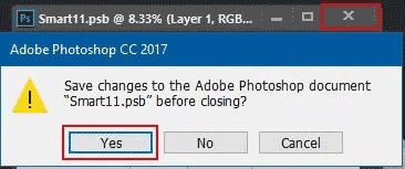 Simpan hasil edit ke dalam desain