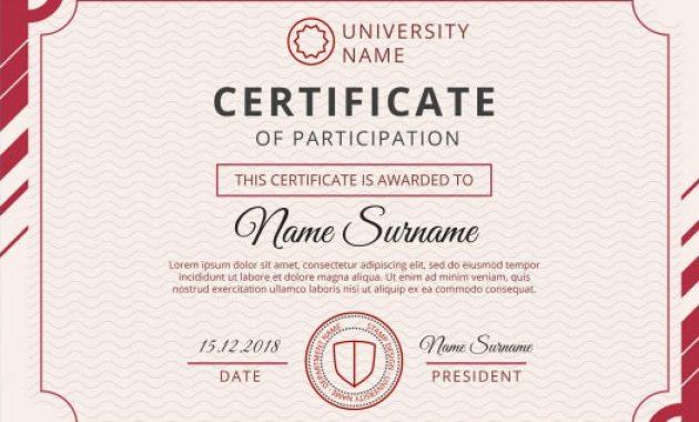 Template cantik dan elegan untuk sertifikat