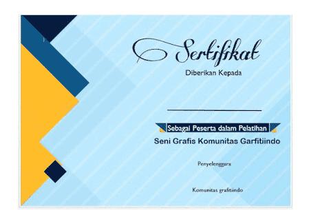 Template sertifikat cantik word