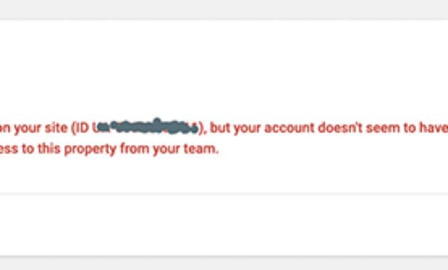 Site kit Google Error